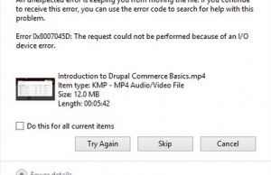 hata 0x8007045D hatası