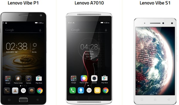 lenovo p1,s1 ve a7010 fark