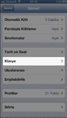 iphone yazı dili değiştirme