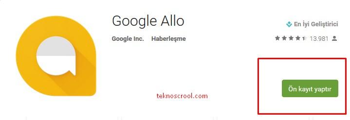 google-allo-henuz-cikmadi