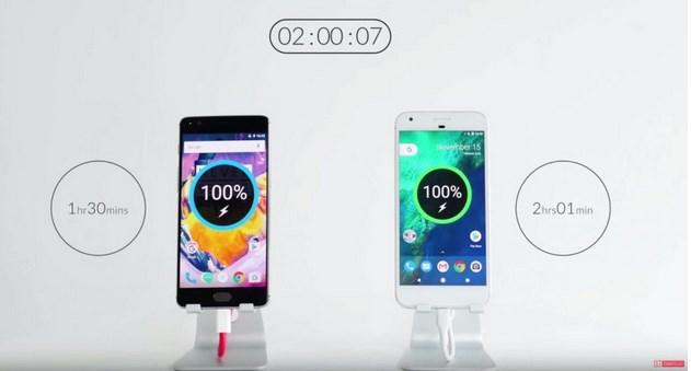 oneplus-3t-google-pixel-xl-hizli-sarj