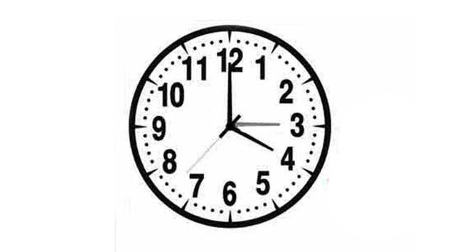 saat geriye dönüyor