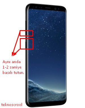 galaxy s8 ekran görüntüsü alma