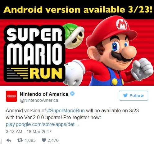 super mario run geliyor