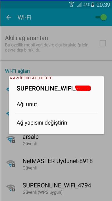 1- Samsung DNS değiştirme nasıl yapılır