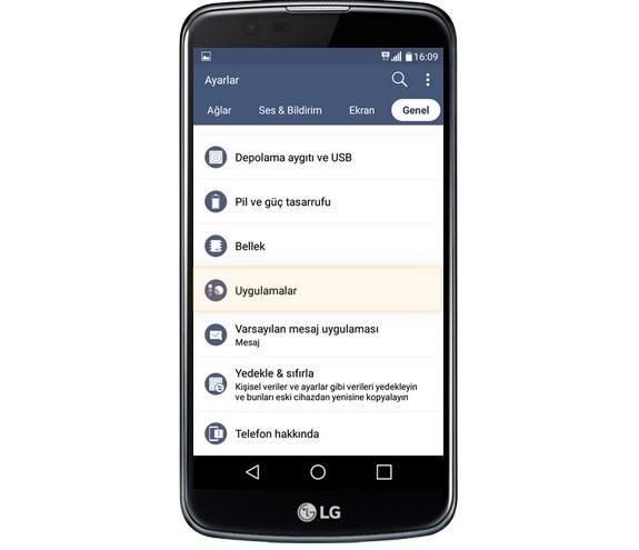 lg-k10-uygulama-silme