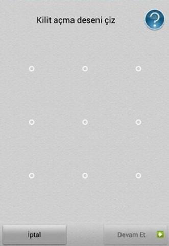 Android telefonumun ekran kilidini unuttum