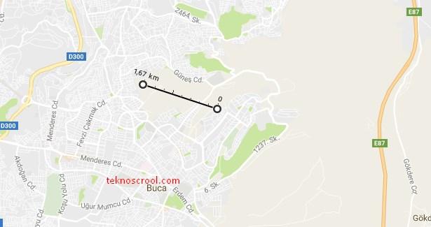 google-maps-mesafe-olcme